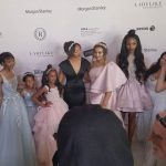 Catwalk Pros helps the models with their runway walk at the LadyLike Foundation event in Los Angeles California